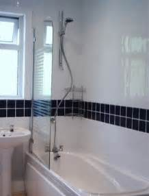 White Bathroom Tiles with Border