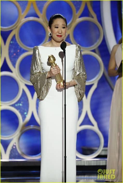 sandra oh golden globe speech sandra oh wins another golden globe dedicates it to her