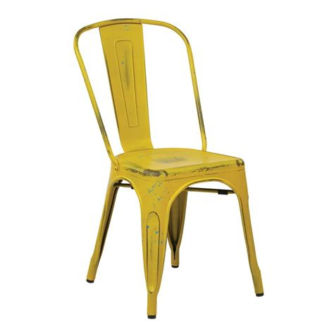 osp designs bristow antique yellow metal side chair set