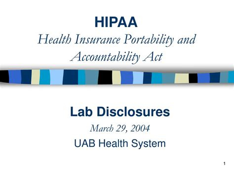 Health insurance portability and accountability act. PPT - HIPAA Health Insurance Portability and Accountability Act PowerPoint Presentation - ID:639230