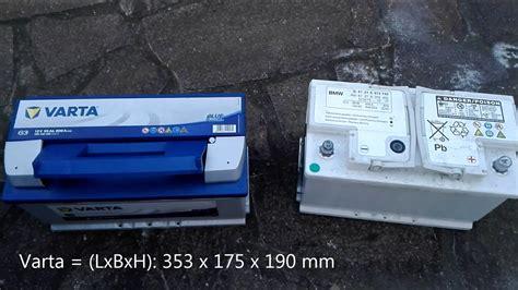 Bmw E60 Battery by Batteriewechsel Bmw 5er E60 Upgrade 80ah Auf 95ah