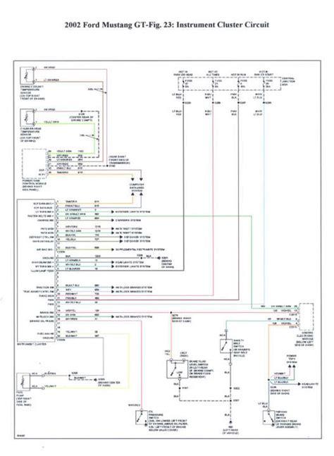 2002 Mustang Gt Wiring Diagram by Cluster Wiring Diagram Mustang Forums At Stangnet