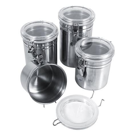kitchen storage canister 4 sizes stainless steel kitchen food storage container 3131