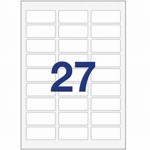 printer labels 27 per a4 sheet equivalent to avery l4737 With avery equivalent labels
