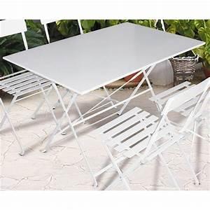 Table Pliante Metal : table jardin metal pliante menuiserie ~ Teatrodelosmanantiales.com Idées de Décoration