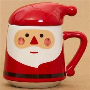 Mug Pere Noel : tasse kawaii rouge p re no l avec un couvercle bonnet tasses mugs bo tes bento boutique ~ Teatrodelosmanantiales.com Idées de Décoration