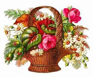 Antique Images: Free Flower Clip Art: Victorian Die Cut of ...