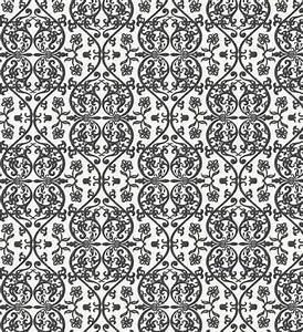 retro black and white damask wallpaper