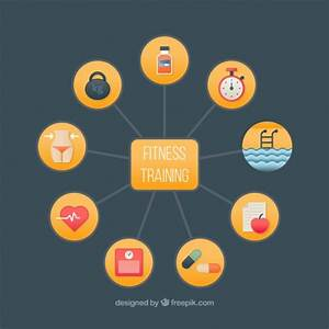 Objects Fitness Training Diagram Vector
