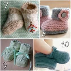 Free Knitting Patterns Babies Booties