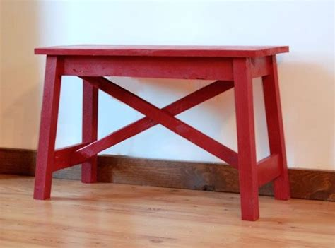 Sitzbank Klein by White Build A Small Easy Rustic X Bench Free And