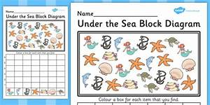 Under The Sea Block Diagram Worksheet    Activity Sheet