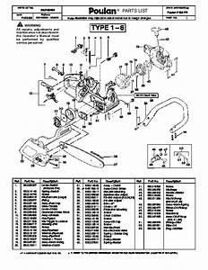 Poulan 2150 Pr Chainsaw Parts List