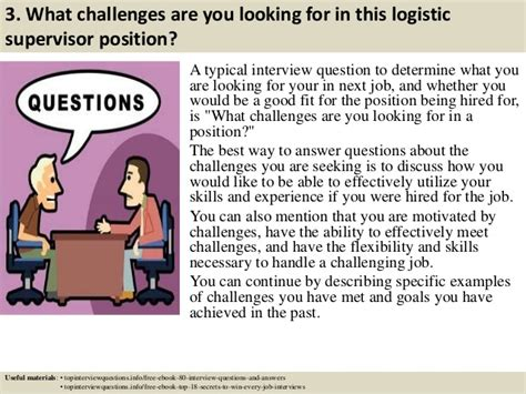 For Logistics Supervisor by Top 10 Logistic Supervisor Questions And Answers