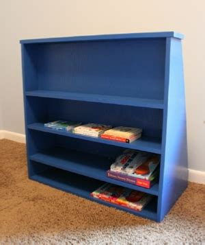 build  toddler bookcase illustrated plans