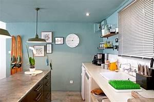 cuisine aux murs bleus With couleur tendance peinture salon 9 vert deco decoration peinture mobilier accessoires