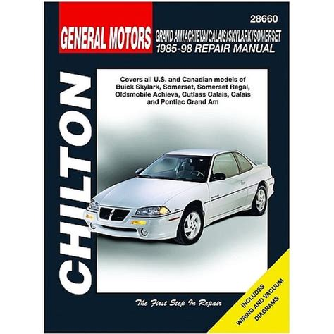 motor auto repair manual 1989 pontiac grand am electronic toll collection 1985 1998 pontiac grand am chilton manual northern auto parts