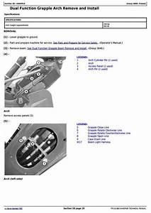 John Deere 848l  948l  Sn F666893 U2014690813  Skidder Service
