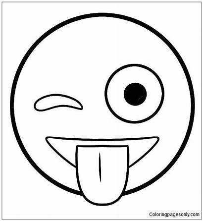 Smiley Pages Coloring Emoji Face Faces Templates