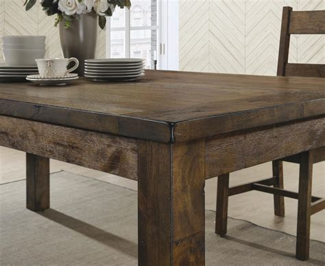 Rustic Dining Table by Coaster Company Coleman Rustic Dining Table Rustic Golden