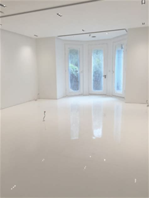 case study white gloss resin floor finish arcon supplies