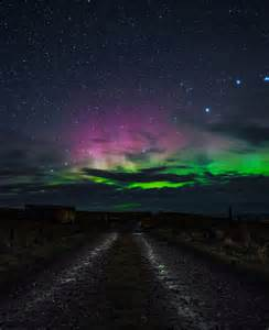 solar flare causes northern lights in us kansas maine and