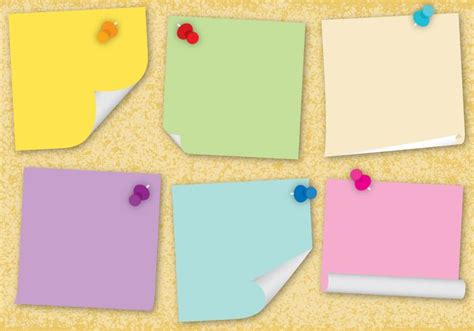 postits vectors   vectors clipart graphics
