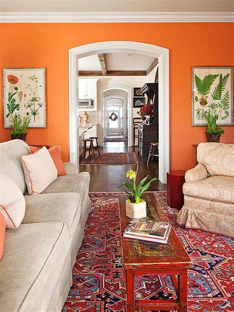 Living Room Decor With Orange Walls by Unique Paint Colors That Just Work For The Home