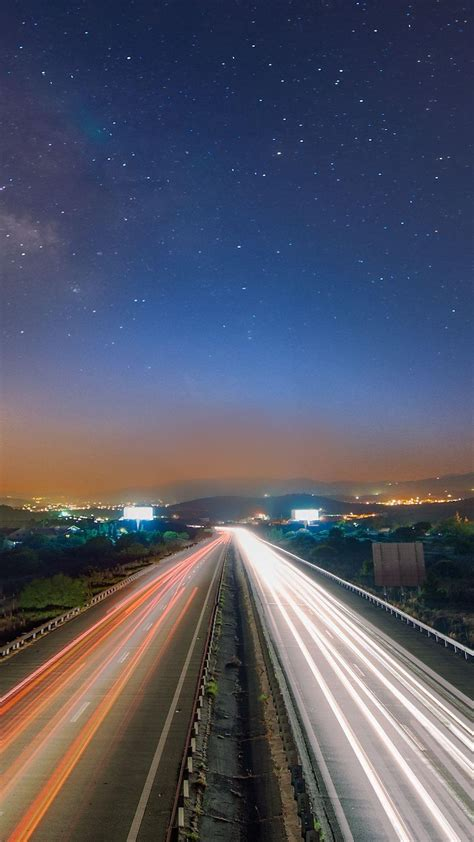 image for long exposure light trails cars iphone 6 plus hd