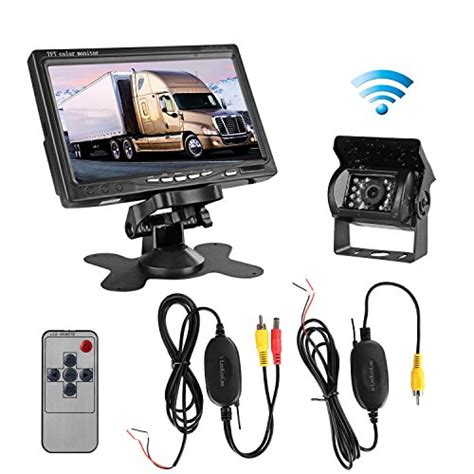 authentic leekooluu rc 12v 24v wireless ir vision rear view backup and 7 quot tft lcd