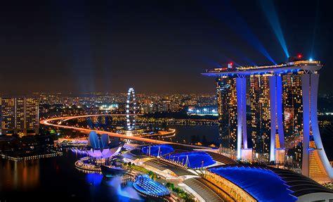 marina bay sands skyscraper  singapore thousand wonders