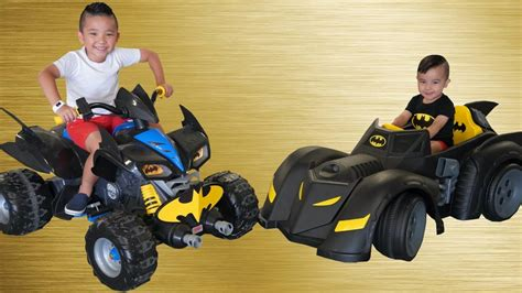Batmobile Bat Bike Ride On Cars Kids Racing Fun With Ckn