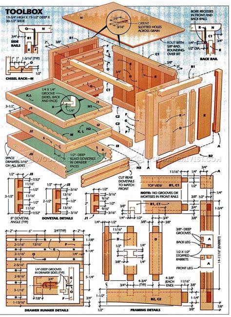Toolbox Plans • Woodarchivist