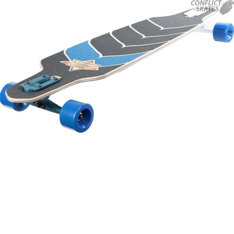 dusters wake drop thru longboard deck skateboard 38