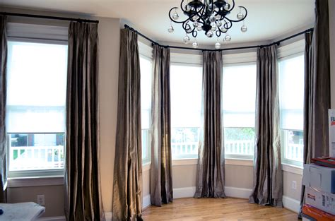 Diy Bay Window Curtain Rod Title Curtains And Bedding To Match Cafe Modern Electric Air Where Can I Buy Kitchen Beaded Hippie How Make For Arched Windows Dining Room Curtain Ideas Photos Fabric Warehouse Online