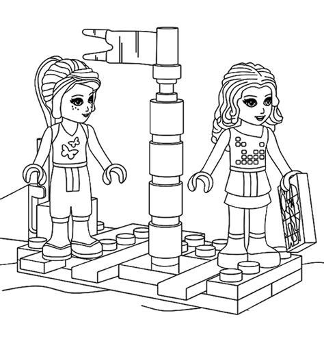 Kleurplaat Lego Friends Dieren by Lego Friends Kleurplaten Meisjes