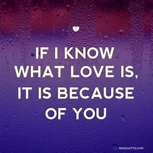I Love You Because Quotes & Sayings | I Love You Because ...