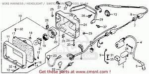 Honda Fl250 1984  E  Usa Wire Harness    Headlight    Switch