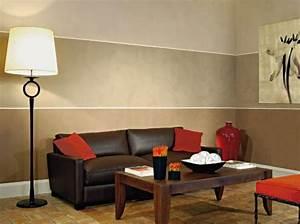 stilvoll peinture mur salon peindre un de couleur dans on With peindre un mur de couleur dans un salon