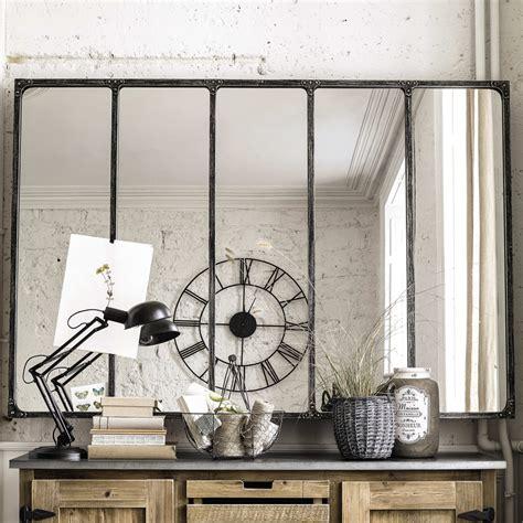 miroir indus en metal   cm cargo verriere maisons du monde