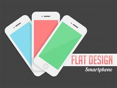 Flat Promo Smartphone Cube Walking Dribbble Traced