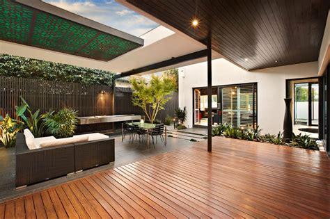 Indoor Outdoor House Design With Alfresco Terrace Living Area