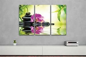 Kunstdruck Auf Leinwand : kunstdruck bambus orchidee auf leinwand 3 teilig 120x80cm ~ Eleganceandgraceweddings.com Haus und Dekorationen