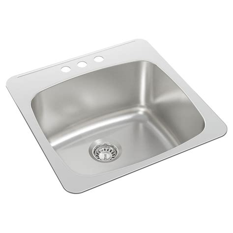 """3hole Single Sink  20 X 205 X 10""""  Brushed Steel  Rona. Where To Put Furniture In A Living Room. High Gloss White Living Room Furniture. Wallpaper And Paint Ideas Living Room. Green And Chocolate Living Room. Ideas To Decorate A Large Wall In Living Room. Contemporary Living Room Sofas. Furniture Sets For Living Room. Small Kitchen Living Room Ideas"""