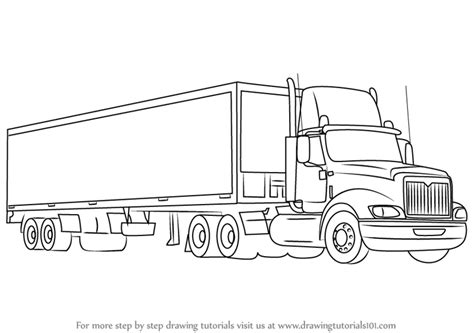 learn   draw  truck  trailer trucks step  step drawing tutorials
