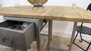 Table Bois Metal Extensible : table extensible design bois m tal youtube ~ Teatrodelosmanantiales.com Idées de Décoration