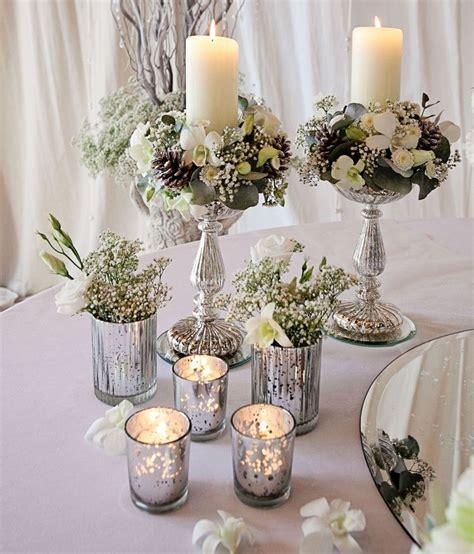 decoration florale vintage de la table festive hivernale