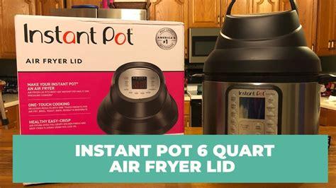 instant fryer pot air lid attachment
