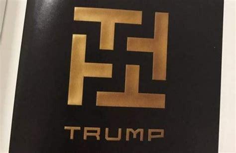 swastika sign  trump   university campus