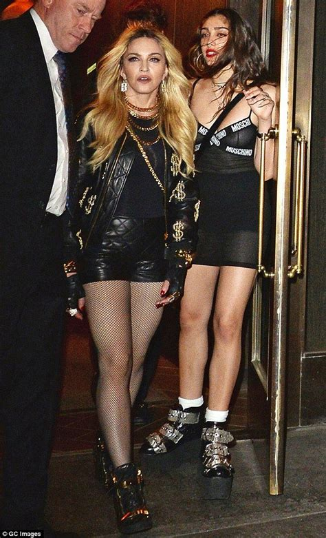 Give To Me Your Leather by Madonna Tries To Outshine Lourdes In Hotpants Madonna